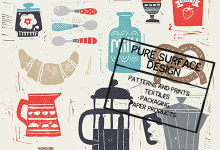 Pure Illustration - Surface Pattern Design Studio - represents Ruth Hickson