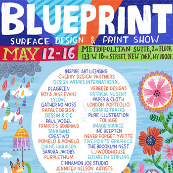 Pure Illustration Blue Print Surface Pattern Show New York