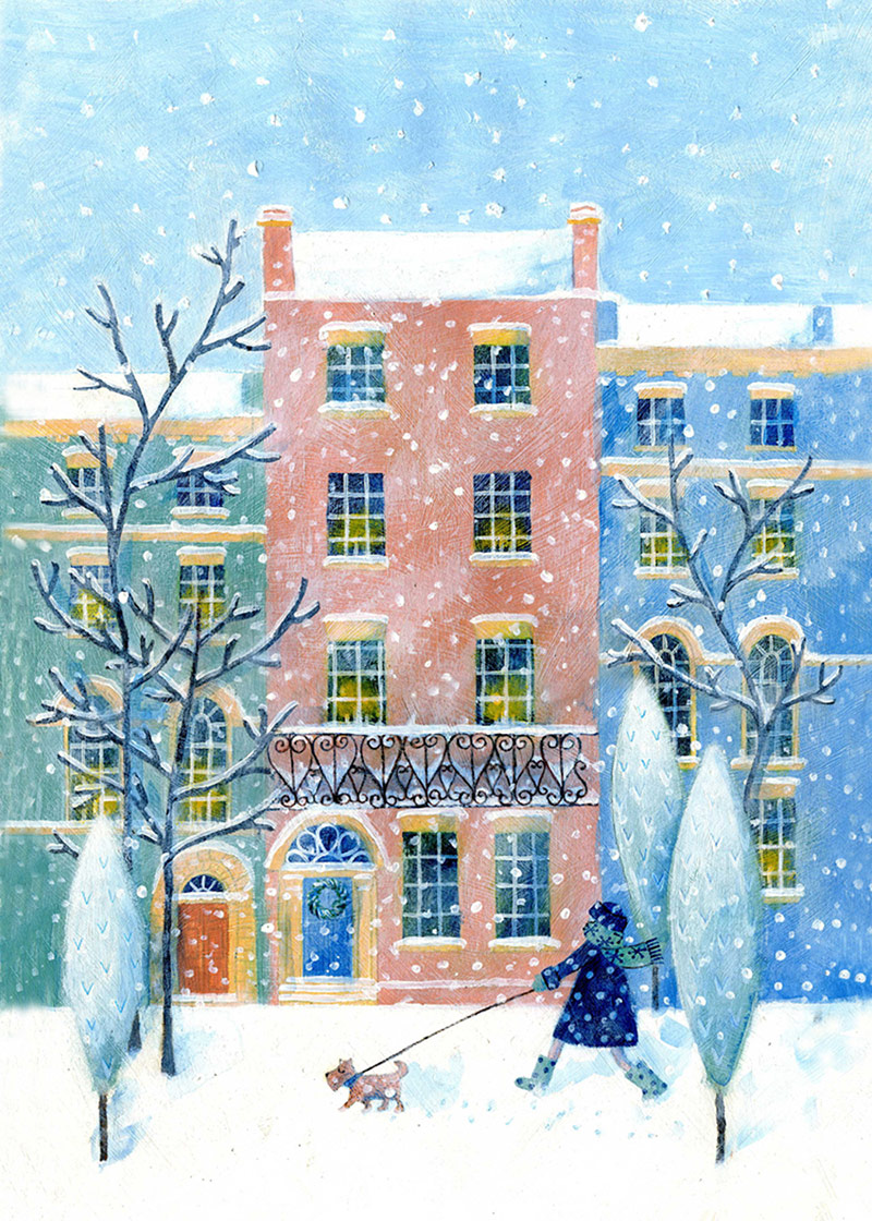 Justine Kimmer Pure Illustration Walkies in Snow