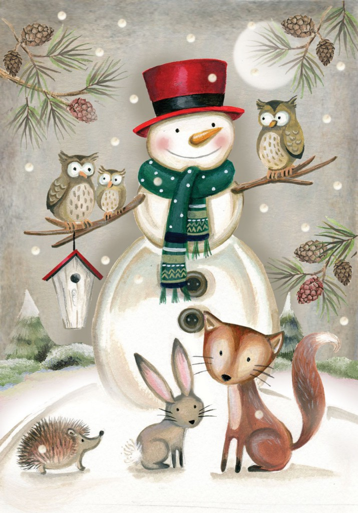 deva evans pure illustration snowman