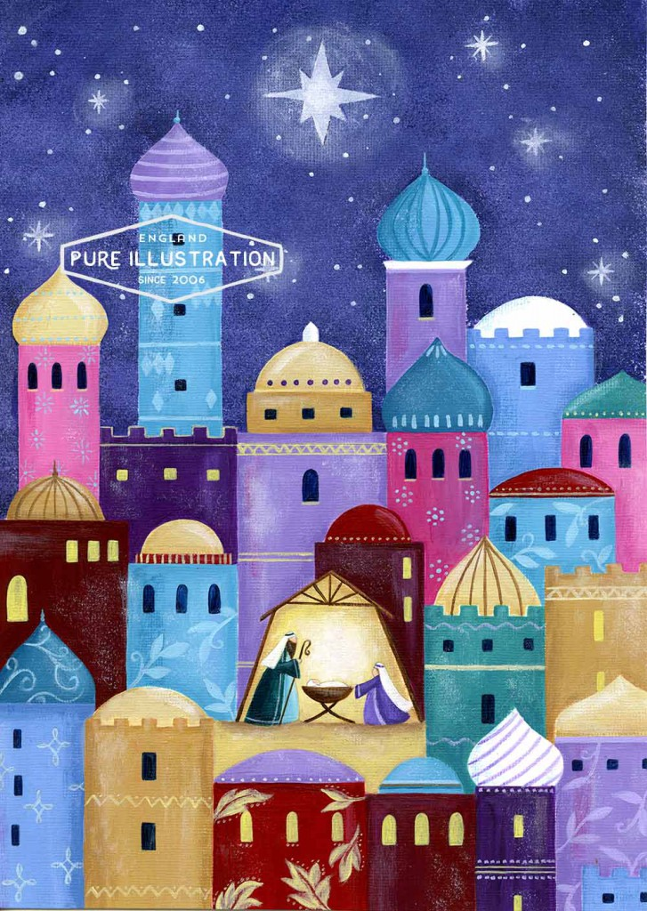 Pure Illustration Nativity Designs & Artwork for Art Licensing
