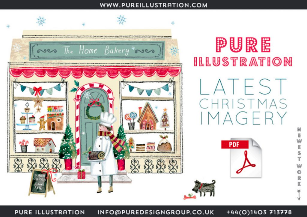 Pure Illustration Christmas Artwork for publishers and manufacturers worldwide