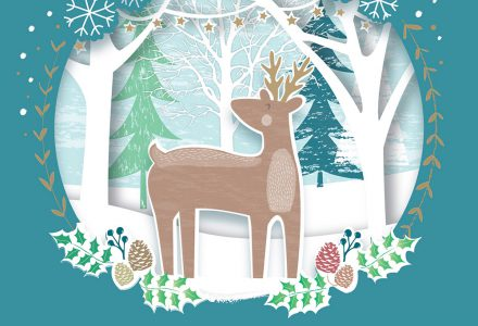 Amanda McDonough works with Pure Illustration Licensing to create Greeting Card designs